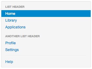 Twitter Bootstrapのナビリスト
